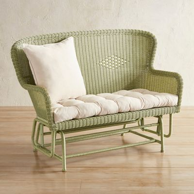 Coco Cove Light Green Settee Glider Rooms To Go Furniture