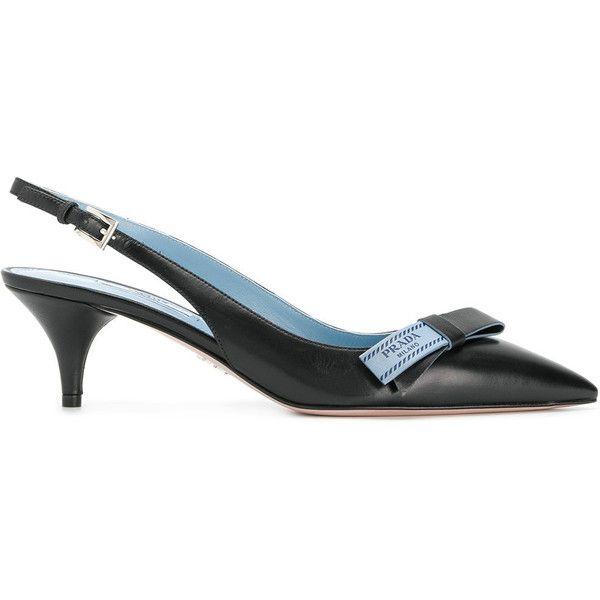 pointed sling back pumps - Black Prada tYkgVL