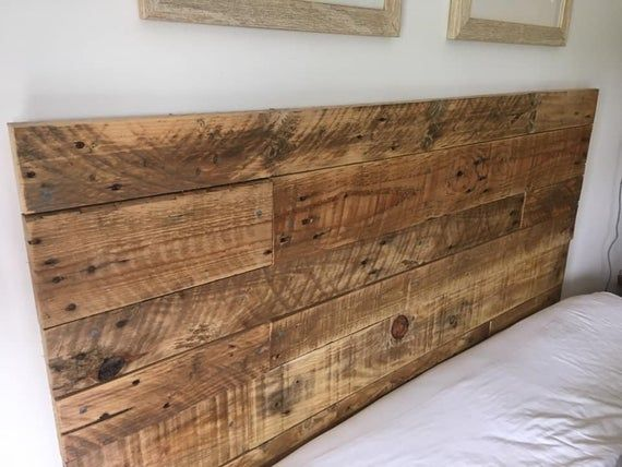 Pallet Headboard for Bed #palletheadboards