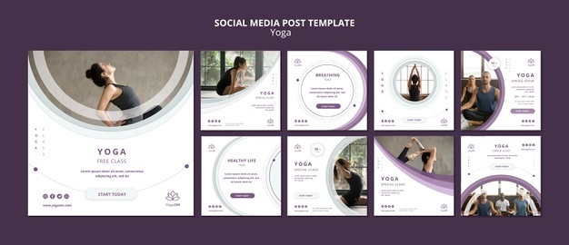 Download Social Media Post Template With Yoga For Free In 2020 Social Media Post Post Templates Social Media Poster