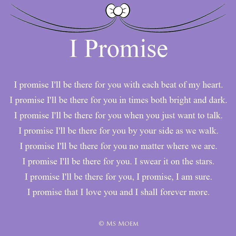 I Promise - Romantic Wedding Poem | Ms Moem | Poems. Life