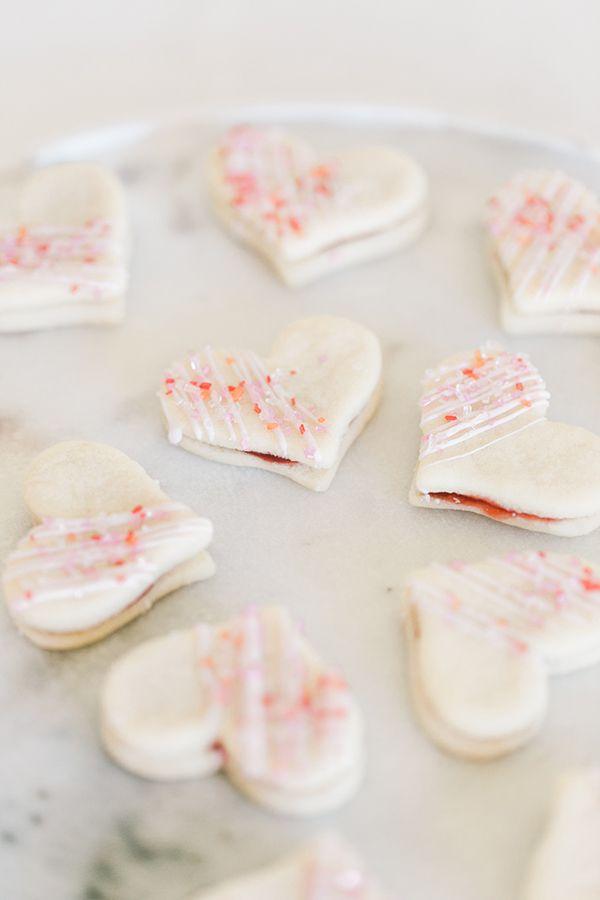 Heart-Shaped Jam Cookies by LaurenConrad.com