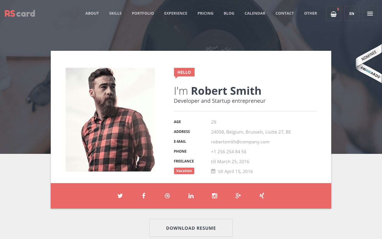 Top 9 Best WordPress Resume Themes for 2017 Display your resume in