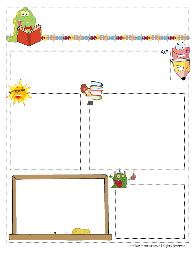 Preschool Classroom Design Template : Teacher newsletter templates