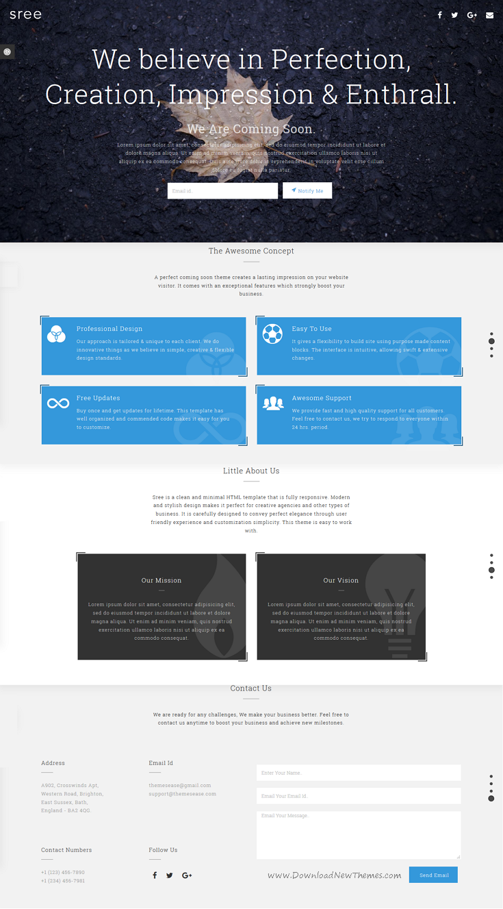 Sree Is A Clean And Minimal Responsive Premium Html Template For