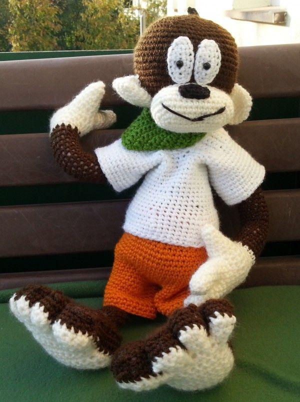 Häkelanleitung Äffle | monkeys | Pinterest | Häkelanleitung, Affen ...