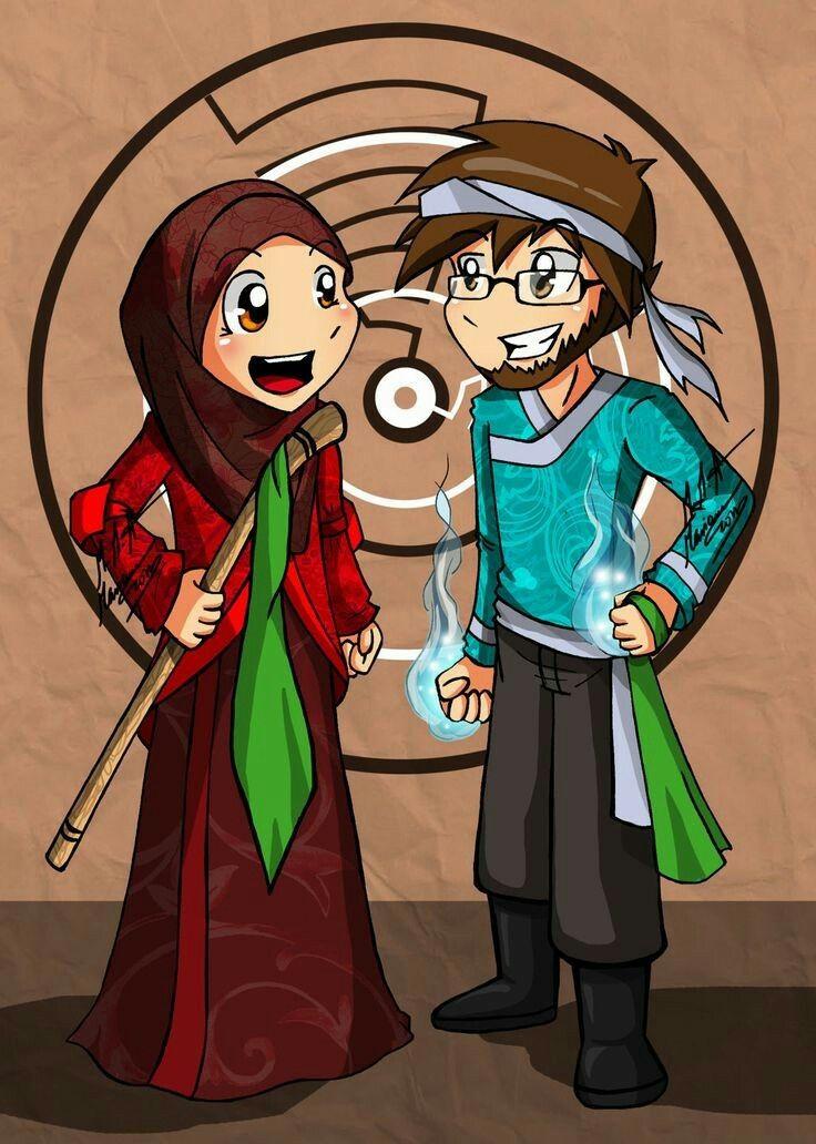 Ide oleh maysan abu tayeh pada couples Kartun, Muslim, Islam