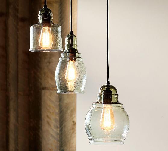 Paxton Glass 3 Light Pendant Pendant Light Fixtures Kitchen Diy