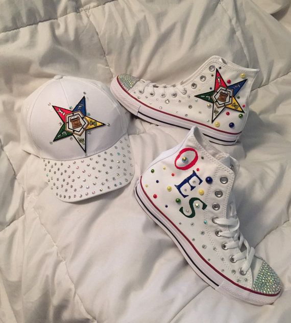 buy popular 677e9 eafdd Order of Eastern Star Bling Baseball Cap by ClutchinPurlz on Etsy