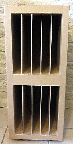 Ranger Les Papiers 30x30 Un Meuble En Carton Scrapanescence Rangement Du Papier De Scrapbooking Meuble En Carton Carton