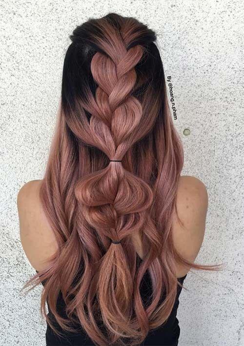 50 Wunderschone Zopfe Frisuren Fur Langes Haar Frisuren Fuer Haar Lange Frisuren Fuer Haar Lange Lan Zopf Lange Haare Zopffrisuren Haar Styling