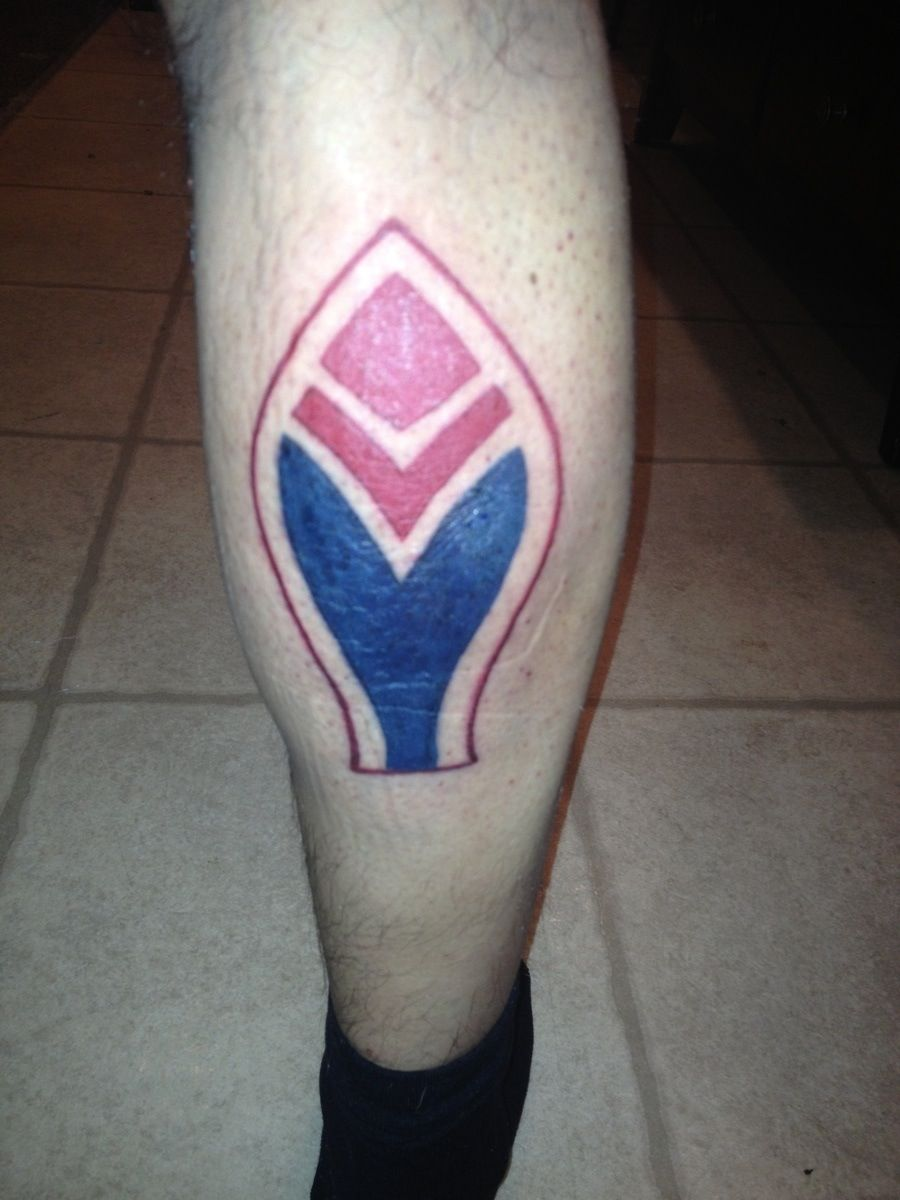 Atlanta Braves Feather Logo Tattoo On My Right Calf Atlanta Braves Tattoo Feather Logo Be Brave Tattoo
