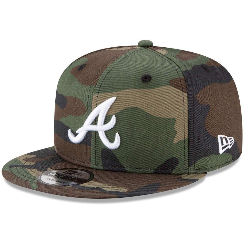 Men S New Era Camo Atlanta Braves Basic 9fifty Snapback Hat Snapback Hats New Era Hats For Men