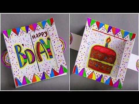 Diy Birthday Card Tutorial This Tutorial Video On How To Make A Birthday Card Handmade Greetin Card Making Birthday Birthday Cards Diy Birthday Card Craft
