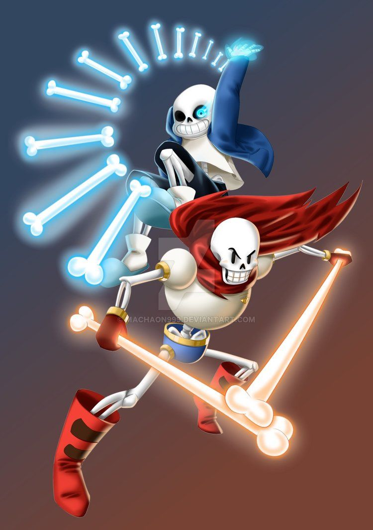 Sans And Papyrus Undertale By Machaon999 Undertale Anime Undertale Undertale Drawings