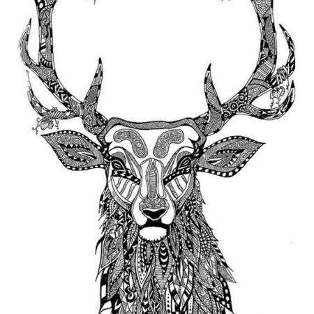 Most Of People Have A Hobby On Drawing And Coloring Even Kids Love To Color In Deer Mandala Pages Are The Smart Ideas Relieve Stress They