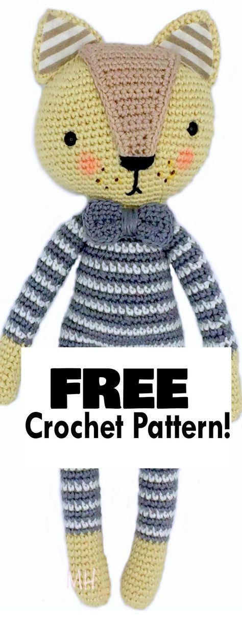 Cat In Striped Pajamas! | Pinterest | Free crochet pattern animals ...