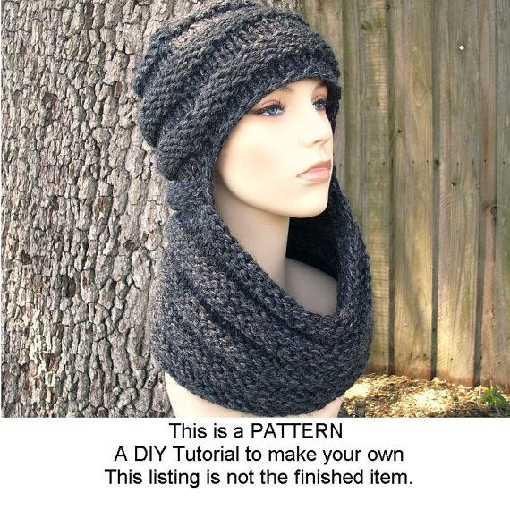 Instant Download Knitting Pattern Knit Hat Knitting By Pixiebell