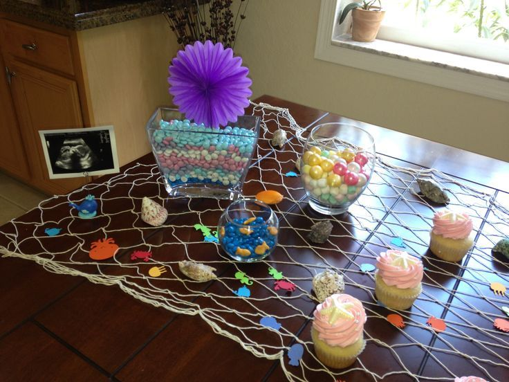 Marvelous Under The Sea Baby Shower Table Decoration, With Lighter Colors
