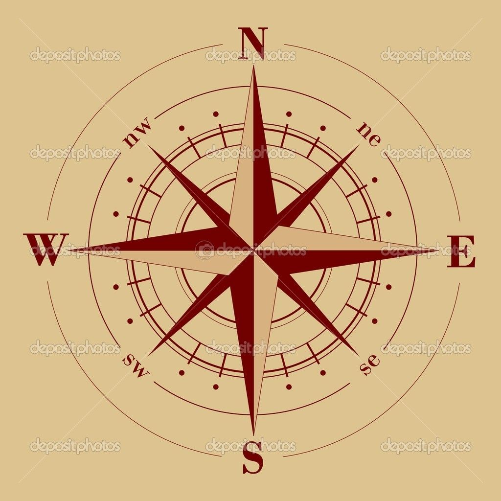 Old Compass Rose | Antique Compass Rose Map | DIY | Pinterest ...
