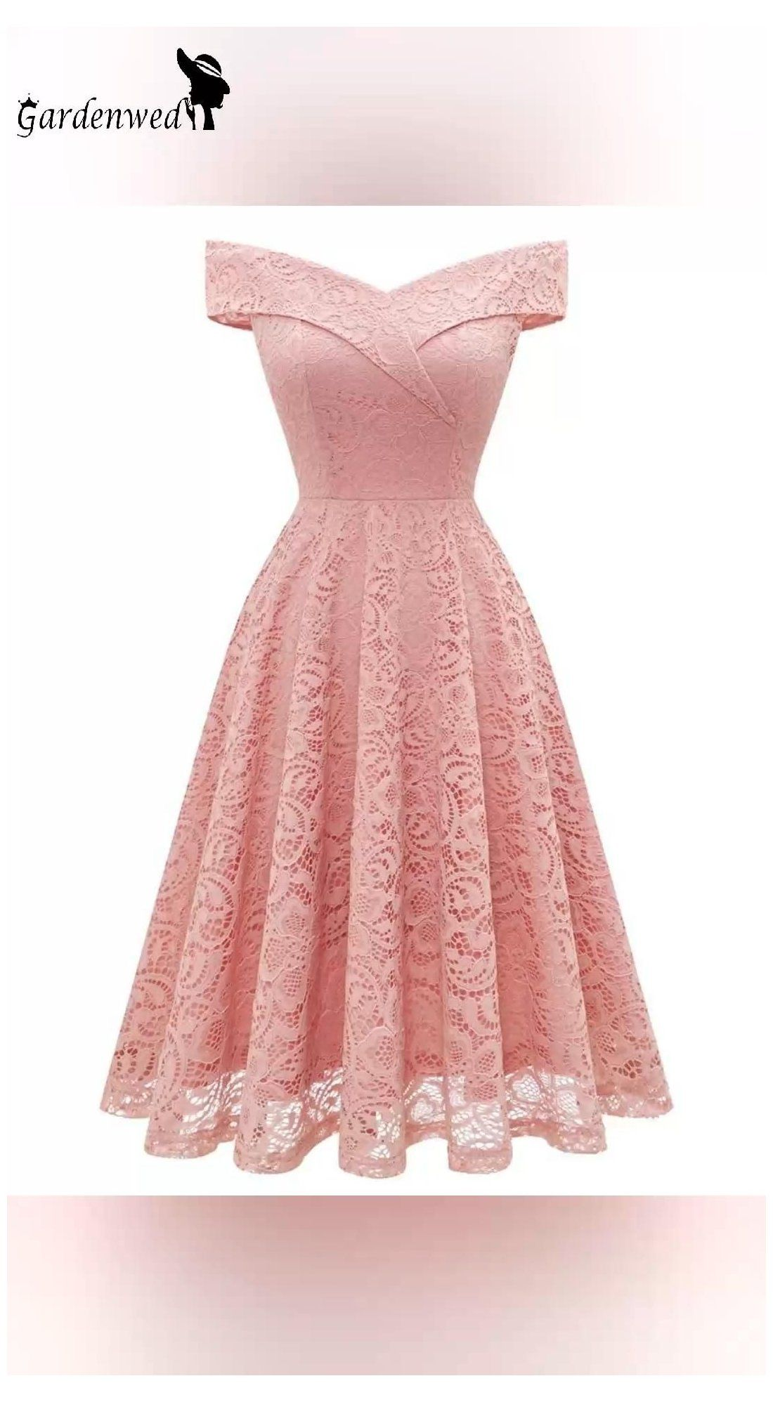 Retro Vintage Floral Lace Cocktail Party Dress Off The Shoulder Bridesmaid Swing Dresses Semi Formal Dresses For Wedd Dresses By Length Lace Dress Dresses [ 1996 x 1100 Pixel ]