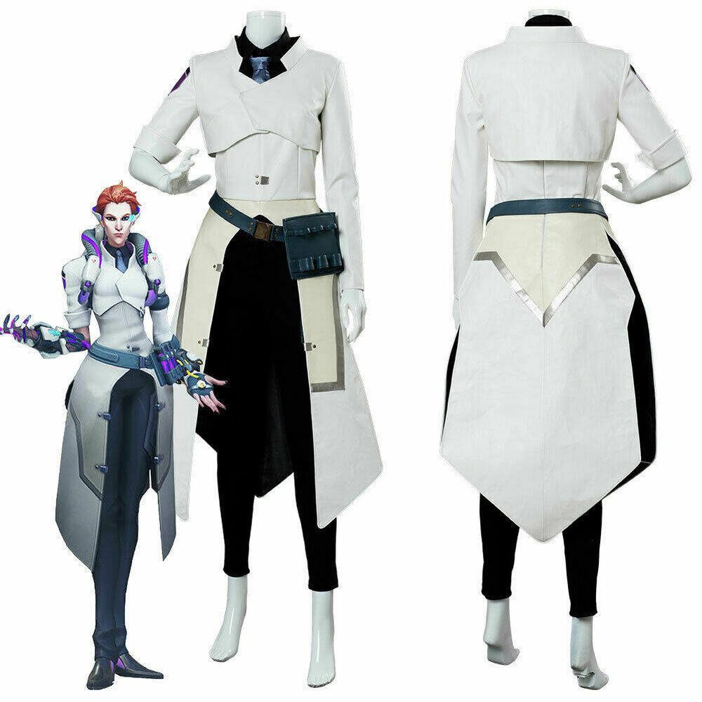7a747ee767a Overwatch OW Moira O'Deorain Cosplay Scientist Skin Costume Uniform ...