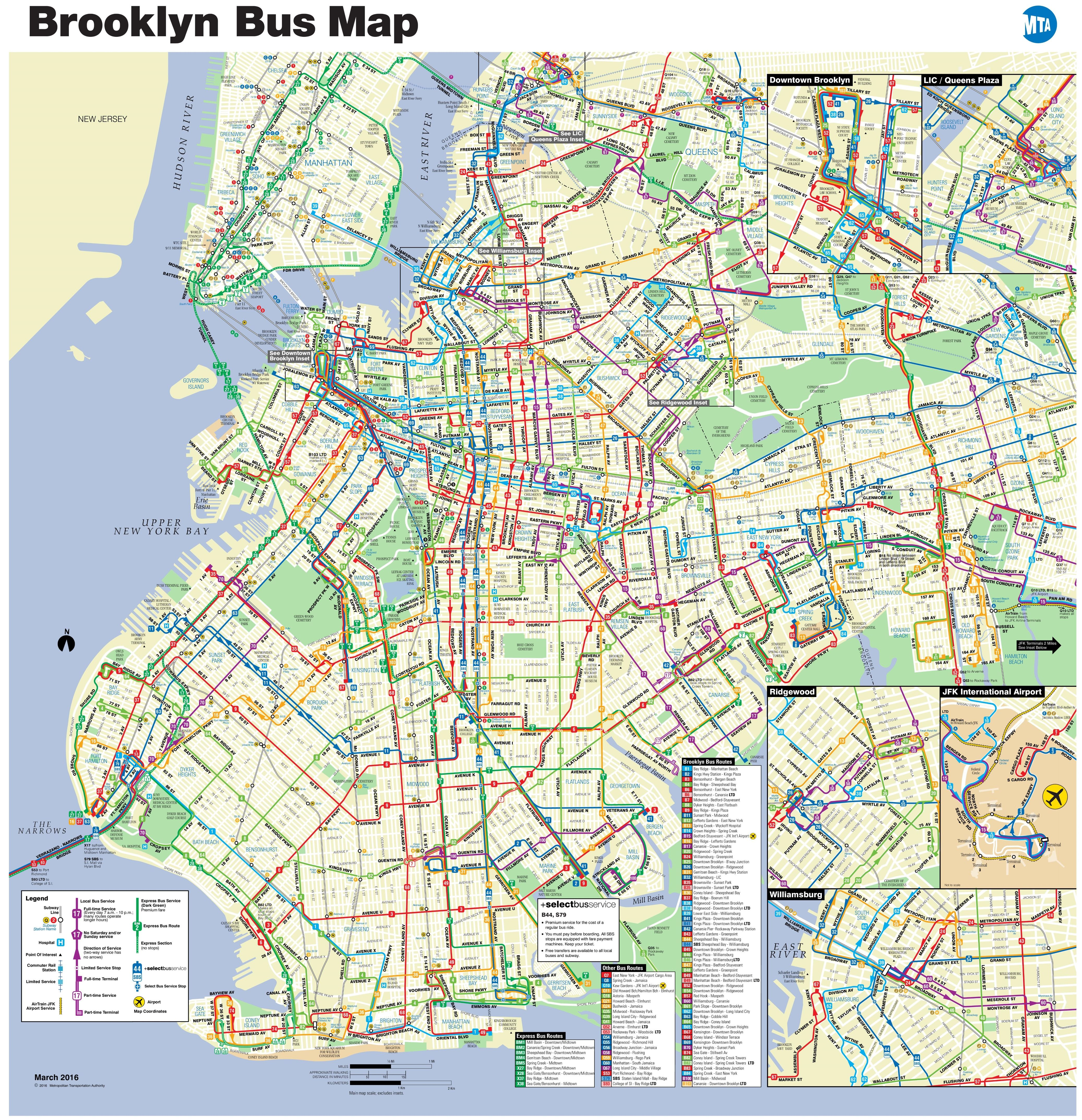 Prospect Park Subway Map.Brooklyn Bus Map Cartography Bus Map Prospect Park Map Map