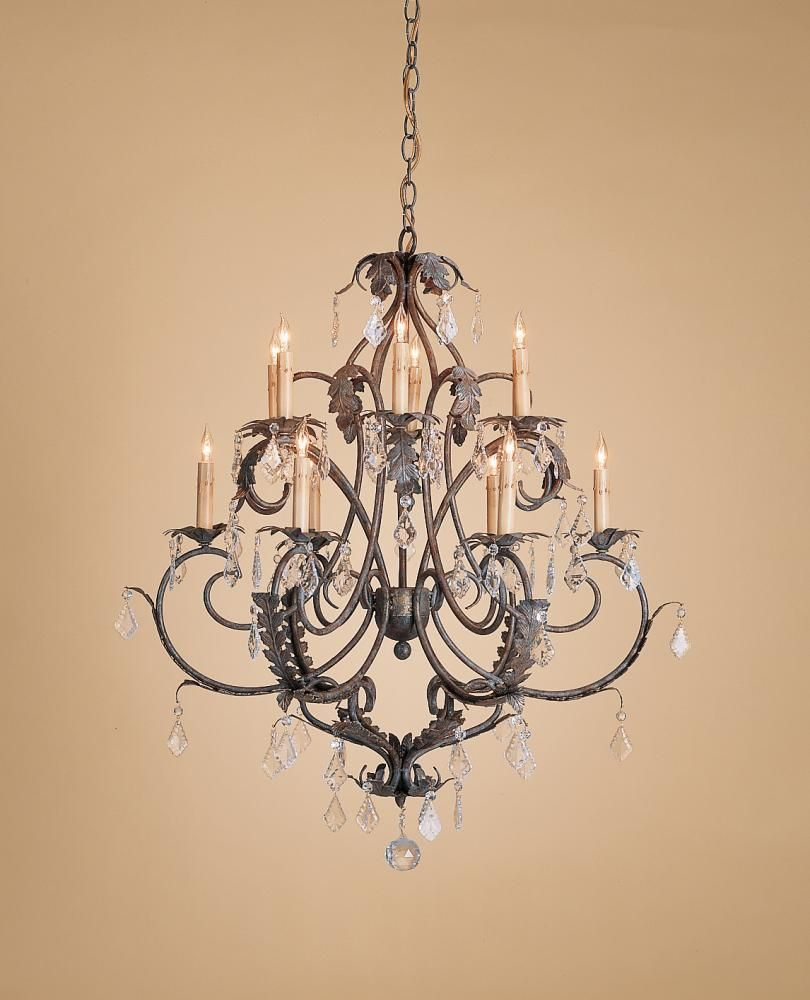 Venetian Gold Leaf Bronze Up Chandelier Heirloom Collection