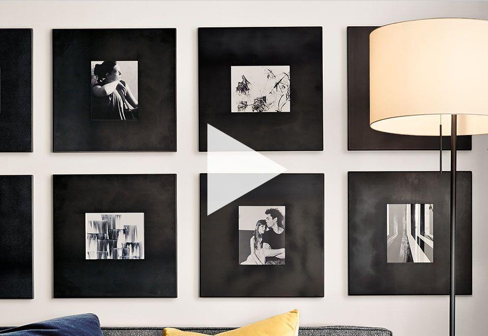 Learn how to create a modern frame wall. See inspiring arrangements ...