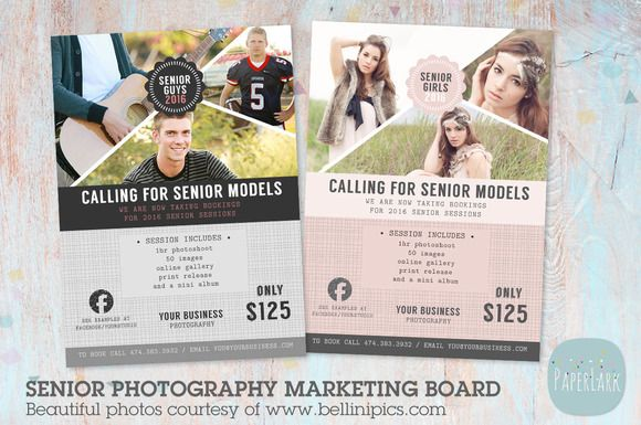 IS007 Senior Marketing Board by Paper Lark  on @creativemarket