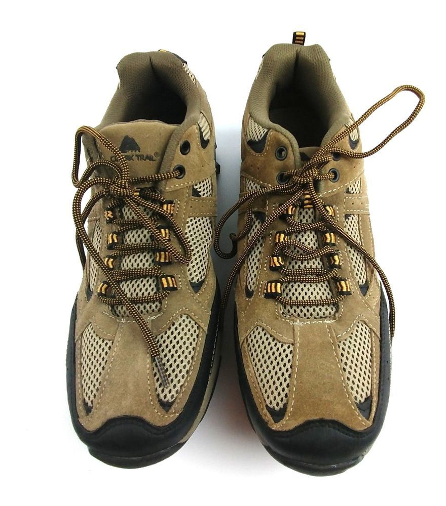 a961e4983d96 Ozark Trail Men s Low Profile Hiking Boot Size 13 Tan Mesh Suede  OzarkTrail   Trail