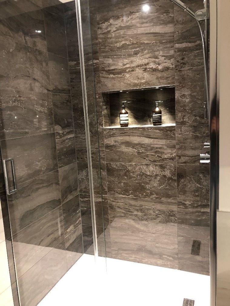 Brown Marble Look Tile Marble Look Tile Marble Tile Bathroom Marble Showers
