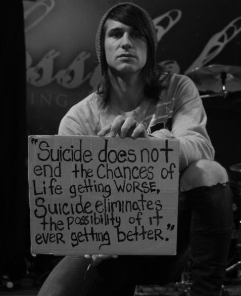 Best Suicide Quotes: The Suicide Sign May Be The Best Project In The World