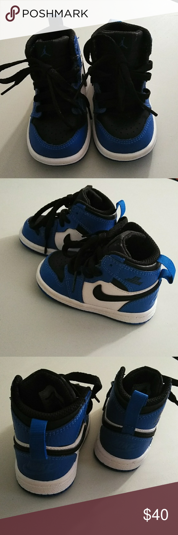 c5cca8c8e2aa Blue   black for babies. Size 4c. Baby Air Jordan 1 blue   black size 4c.  They are very very good condition but dont have the box. Jordan Shoes  Sneakers