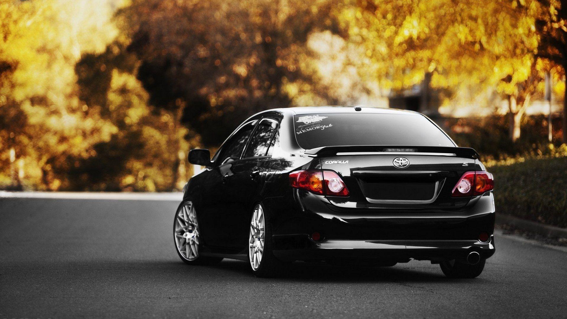 Black Toyota Carolla Back Wallpaper Gb Hd Wallpapers Back Wallpaper Car Rental Rent A Car