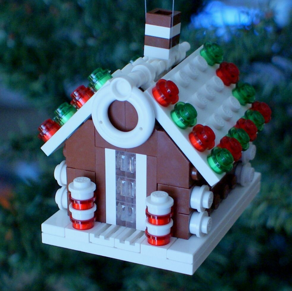 lego gingerbread house christmas ornament chris mcveigh design