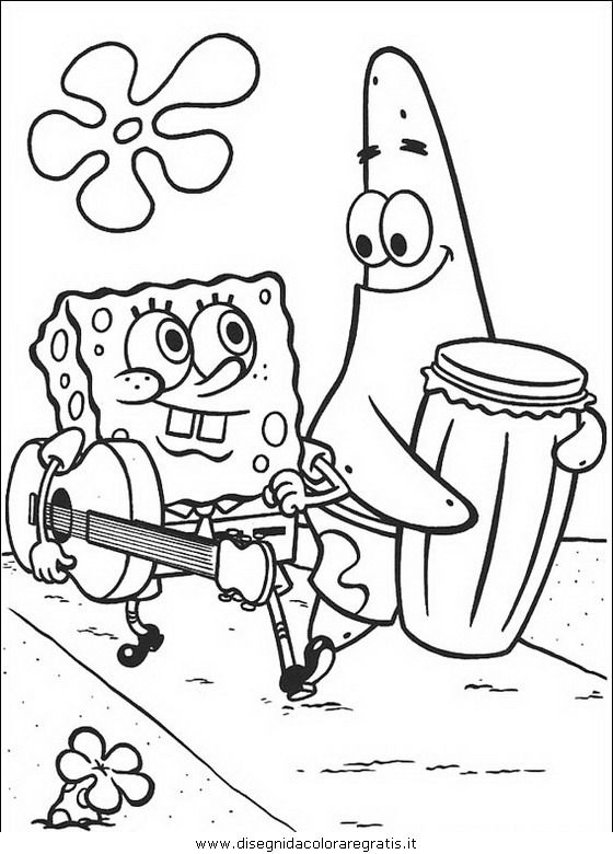 Spongebob Immagini Da Colorare.Disegno Spongebob 62 Personaggio Cartone Animato Da Colorare