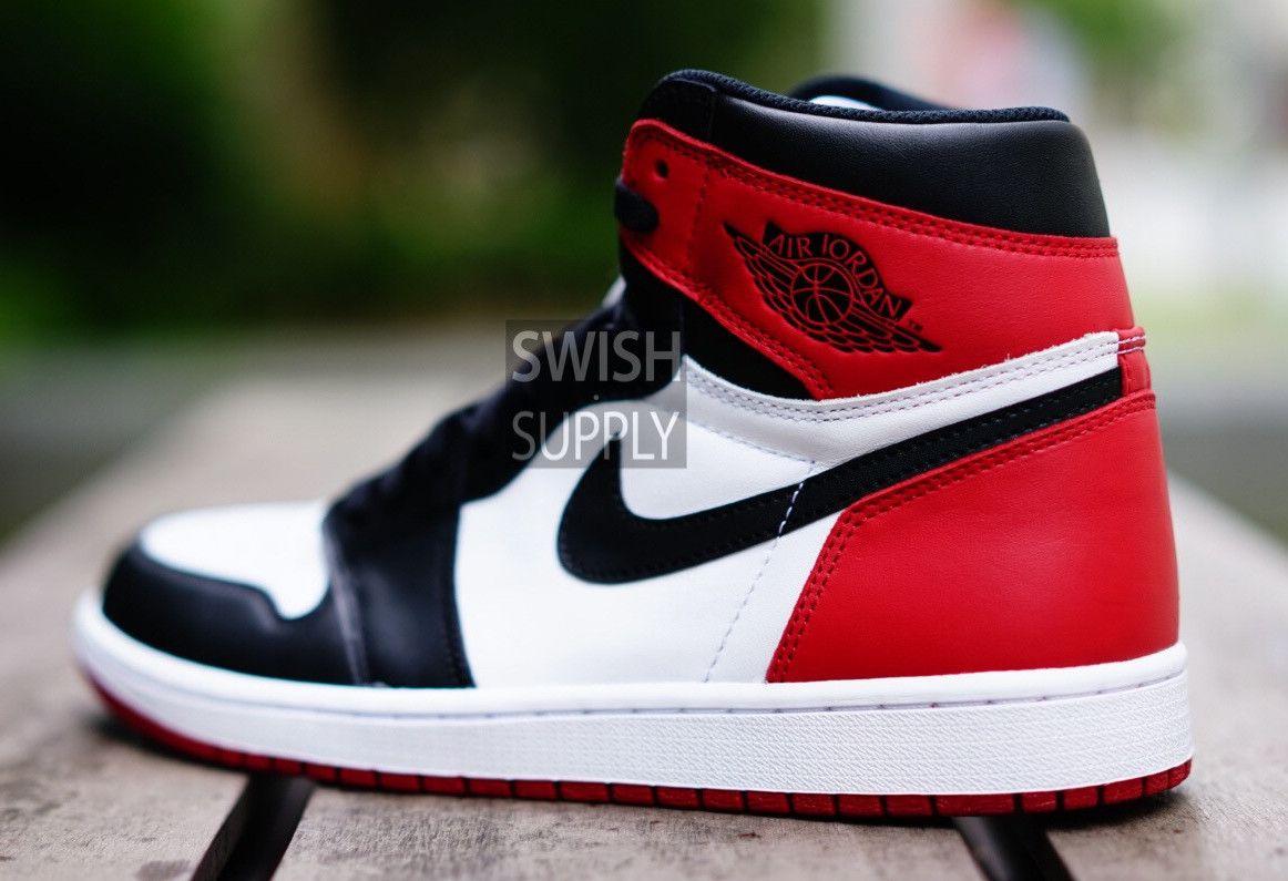 Air Jordan 1 Chaussures Orteils En Cuir Verni
