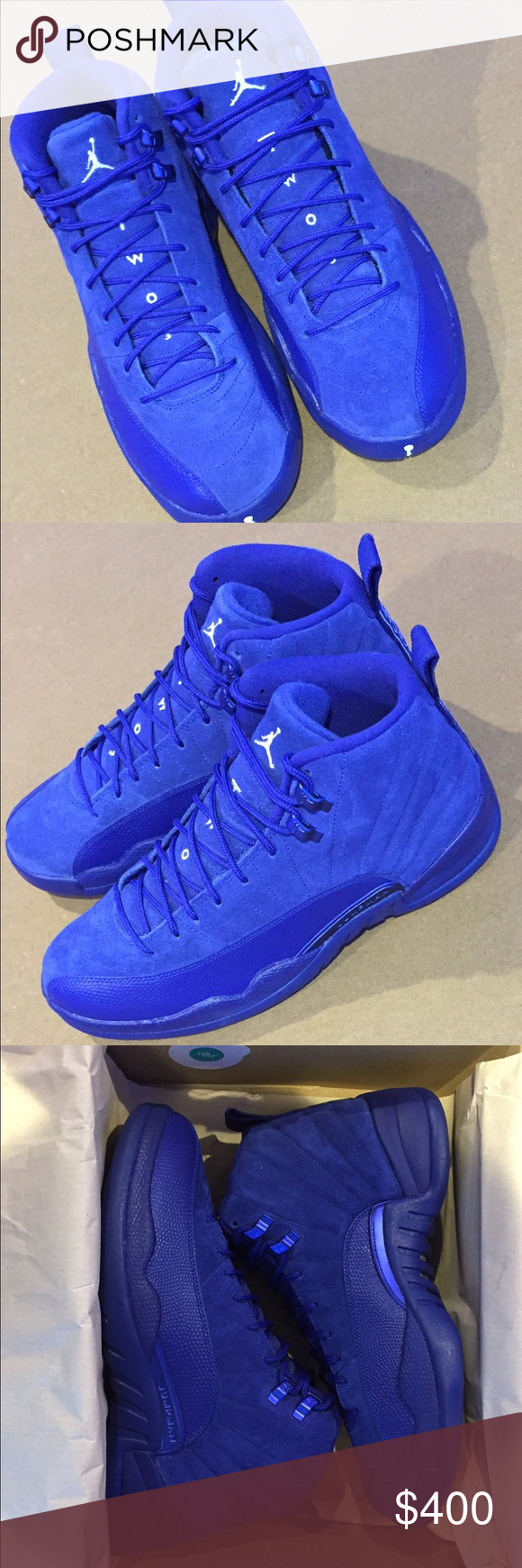 cheap for discount 3e949 bea56 Jordan 12 Royal Blue I m selling a pair of the hottest colorway of 2016.  Men s Jordan 12 Royal Blue Suede size 9.5 BRAND NEW in its original box  with ...