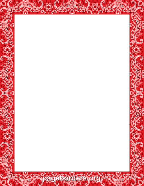 printable red bandana border use the border in microsoft