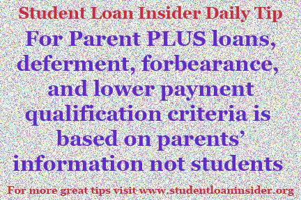 For more daily tips from forbearances and deferments to payment plans and more, visit www.studentloaninsider.org