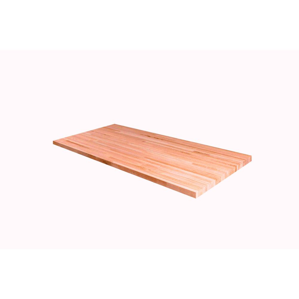American Hardwood Industries 4 Ft L X 2 Ft 1 In D X 1 5 In T Butcher Block Countertop In Unfinished White Oak Butcher Block Countertops Butcher Block Wood White Oak