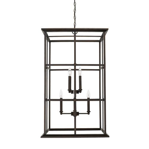 Lipan 8 Light Candle Style Rectangle Square Chandelier Foyer Pendant Lighting Capital Lighting Fixture Capital Lighting