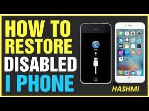 How To Remove Reset Any Disabled Or Password Locked Iphones 6s 6
