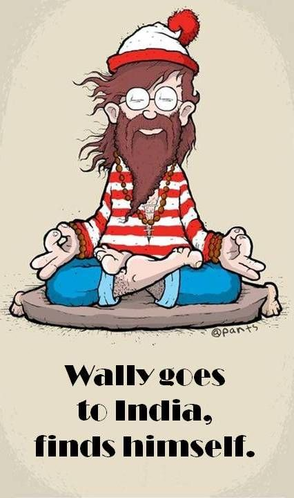 Wally goes to India, finds himself.