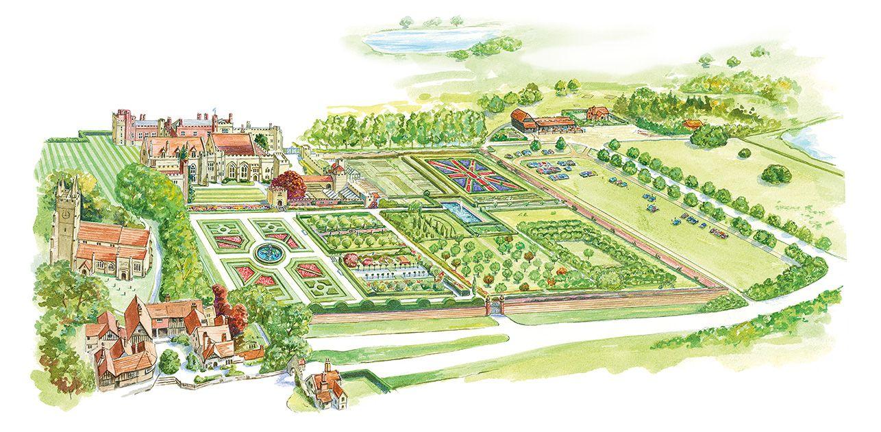Interactive garden map penshurst place uk pinterest for Interactive landscape design