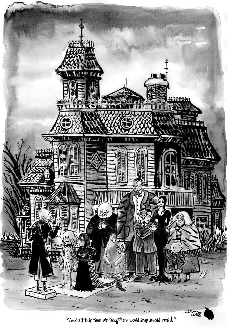 Original Charles Addams cartoon | Addams Family in 2019 ...