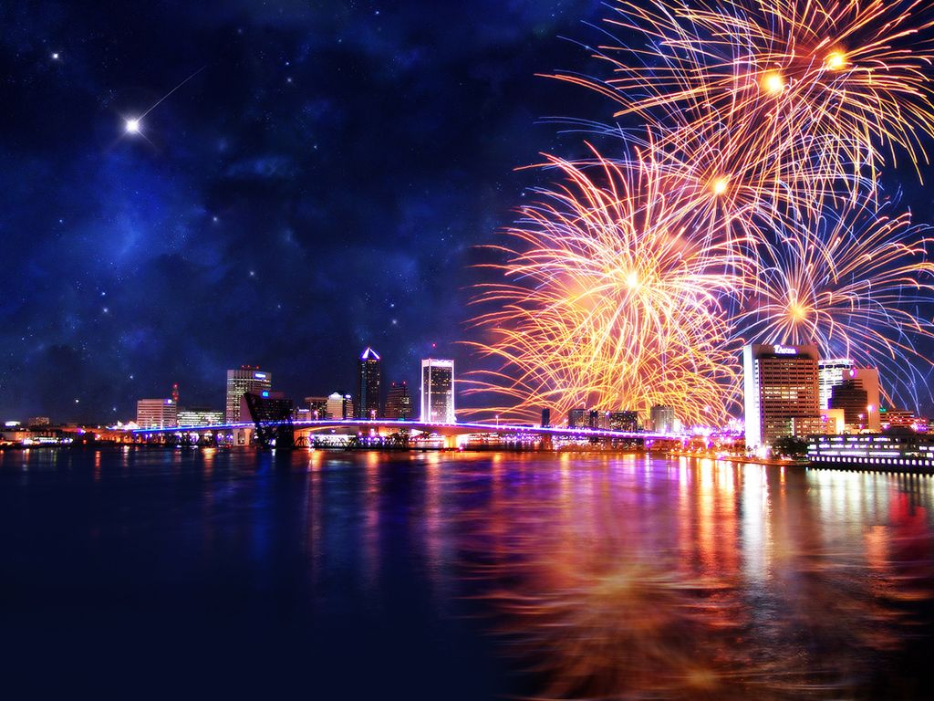 new year's eve fireworks in hd | 1024 x 768 | <3 breathtaking