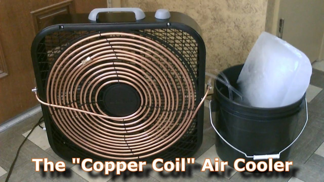"""Homemade AC The """"Copper Coil"""" Air Cooler! (Simple """"Box"""