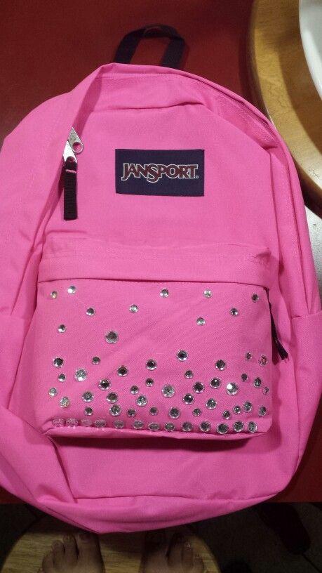 daa9ba2ad DIY Ombre bedazzled backpack | diy school | Diy ombre, Backpacks ...